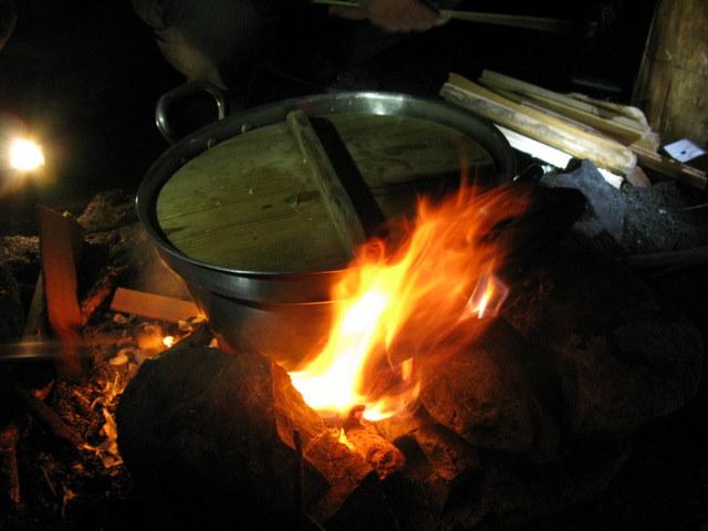 cottonのブログ-焚き火なべ